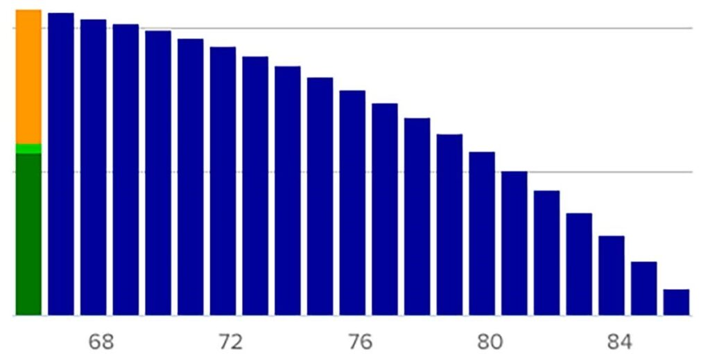 Burn Rate and Retirement - graph